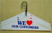 Capped Metal Wire Hanger (We Love Our customers) 500 Pcs/Box