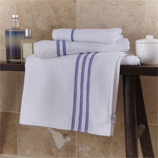 Stratus Hand Towel  50x90cm 100% Cotton Leisure Blue Header Bars