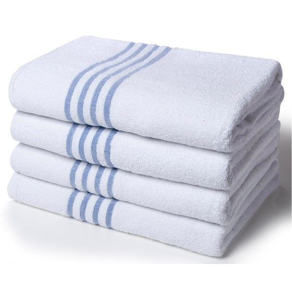 LEISURE NECK TOWEL WHITE 30x100cm PLAIN (400gsm)